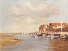 "Phyllis Morgans, RGI (1911-2001), ""Blakeney Still"", oil on canvas, signed lower right, 29 x 39cm"