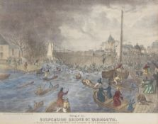 "After C J W Winter, ""Falling of the suspension bridge, Gt Yarmouth on Friday evening, May 2, 1845,"