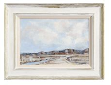 Desmond Cossey (born 1940), Cley Mill from Blakeney Marshes and The Boathouse, Burnham Overy Staithe