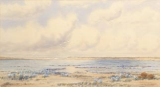 Frederick Henry Partridge (1849-1929), North Norfolk estuary, watercolour, signed lower right, 35