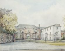 •AR Roy Haydon (20th century), The Assembly House, Norwich, pen, ink and watercolour, signed and