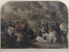 "After Benjamin West, engraved by James Heath, ""The death of Lord Nelson, K.B"", hand coloured"