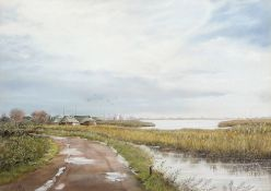 "•AR Clifford Knight (20th century), ""After the storm (Hickling)"", pastel, signed and dated 1994"