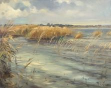 "Wilfred Stanley Pettitt (1904-1978) ""Broadland scene"", oil on canvas, signed lower right, 39 x 49cm"