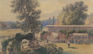 John Joseph Cotman (1814-1878), 'Thorpe Gardens', watercolour, signed and dated 1873 lower right, 29