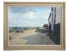 "•AR Stanley Orchart (1920-2005), ""Burnham Overy Staithe"", oil on board, signed lower left, inscribed"