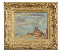 "•AR Arthur Edward Davies, RBA, RCA (1893-1988), ""Cley Mill"", oil on board, signed lower left, 16 x"