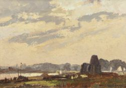 "•AR Edward Holroyd Pearce (1901-1990), ""St Benet's Abbey"", oil on board, signed lower right, 22 x"