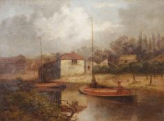 "Arthur Dale Ventnor (1829-1884) ""Paul's Ferry"" and ""River Wensum"", pair of oils on canvas, both"