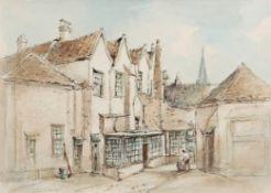 "•AR Arthur Edward Davies, RBA, RCA (1893-1988), ""Duke's Palace, Norwich"", watercolour, signed"