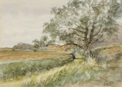 Charles Harmony Harrison (1842-1902), Landscape, watercolour, signed lower right, 17 x 24cm