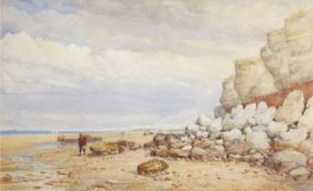 "Thomas Lound (1801-1861), ""Hunstanton Beach"", watercolour, 45 x 73cm. Provenance: From the"