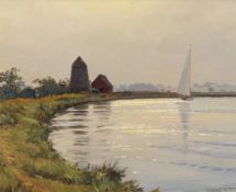 Wilfred Stanley Pettitt (1904-1978), Broadland scene, oil on board, signed lower right, 24 x 29cm