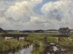 "Campbell Archibald Mellon, ROI, RBA, (1878-1955), ""Somerleyton"", oil on panel, inscribed with"