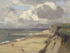 """*AR Campbell Archibald Mellon, ROI, RBA, (1878-1955), """"Late July 10:30am, Hopton, 1932"""", oil on"""