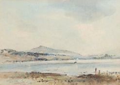 "•AR Arthur Edward Davies, RBA, RCA (1893-1988), ""Bala Lake, North Wales"", pencil and watercolour,"