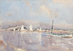 "•AR Frederick William Baldwin, SMA (1899-1984), ""Sailing at Southwold"", watercolour, signed lower"