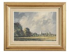 AR Cavendish Morton ROI, (1911-2015), Suffolk Landscape, oil on board, signed and dated '76 lower