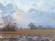"•AR Margaret Glass, PS (born 1950), ""Evening after rain"", pastel, initialled and dated 90 lower"