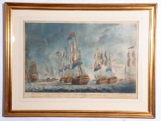 "After Robert Dodd, engraved by the same, ""View 1st of the Victory, obtained by the British Fleet,"
