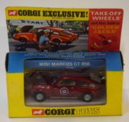 1960s Corgi Toys Mini Marcos GT850 model no 341, in original box