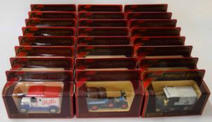 Quantity of 24 Matchbox Models of Yesteryear to include Renault type AG van, Preston tramcar and