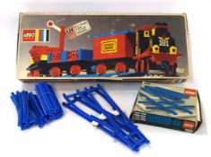 1970s Lego box train set no 181, together with further track (model no 159)