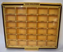 Large Matchbox Models of Yesteryear collectors display case of moulded plastic form, 85cm wide