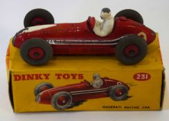 Dinky Maserati racing car model no 231, in original box