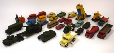 Quantity of 1950s Dinky vehicles to include Dunlop van, Kodak Cameras van, Foden trucks and group of
