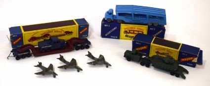 Group of Matchbox series to include Major No 3, Major No 6 and 3 further Dinky aircraft