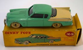Dinky Studebaker Golden Hawk model no 169, in original box