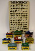 Group of eight vintage Matchbox series toy vehicles in original boxes, together with a Matchbox