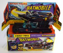 1960s Corgi Toys Batmobile model no 267 in original box and plinth