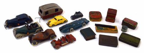 Quantity of circa 1930s/40s mainly Tri-ang Minic toy vehicles and other makers, also to include a