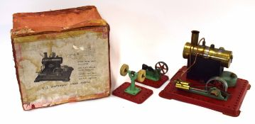Mamod stationary steam engine in original box, circa 1950s
