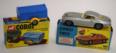 1960s Corgi Chevrolet Corvette Stingray model no 310 in original box, together with a Corgi Toys