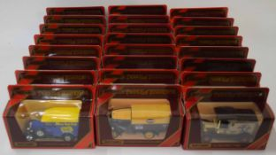 Quantity of 24 Matchbox Models of Yesteryear to include Model A Ford van, Model T Ford and Model