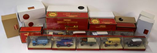 Quantity of Matchbox models of yesteryear collectors edition, mainly commercial vehicles to