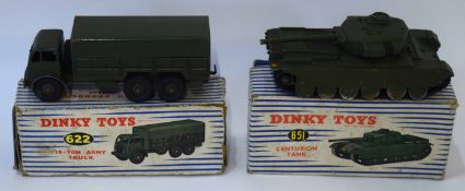 1950s Dinky Toys Centurion tank model no 651, together with a Dinky Toys 10-ton Army truck, model no