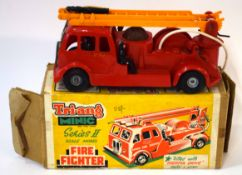 Vintage Tri-ang Minic Series II scale model fire fighter engine in original box