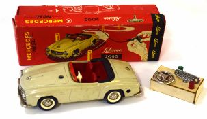 Circa 1950s/60s Schuco model of a Mercedes 190 SL model no 2095 in original box complete with key