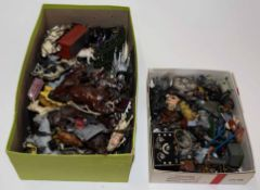 Quantity of various vintage lead figures mainly cattle and farm associated, some by Britains