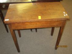 Early 19th century mahogany fold-top tea table on plain tapering square supports, 70cm wide