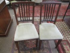 Set of eight mahogany rail back dining chairs (comprises eight single chairs)