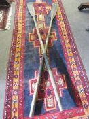 Pair of vintage oars, 2.3m long