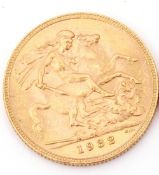 George V sovereign, dated 1932