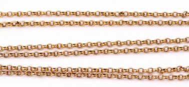 9ct stamped oval link chain, 31cm when worn, 7.8gms