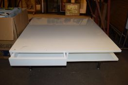 MODERN WHITE COFFEE TABLE, 95CM WIDE