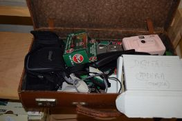 SMALL SUITCASE CONTAINING QUANTITY OF CAMERAS AND BOXED MODEL CARS